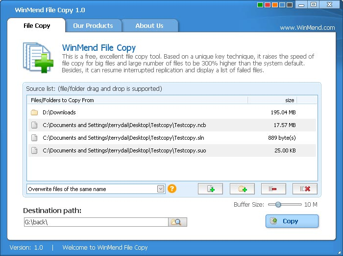 WinMend File Copy 1 4 2 free download - Software reviews
