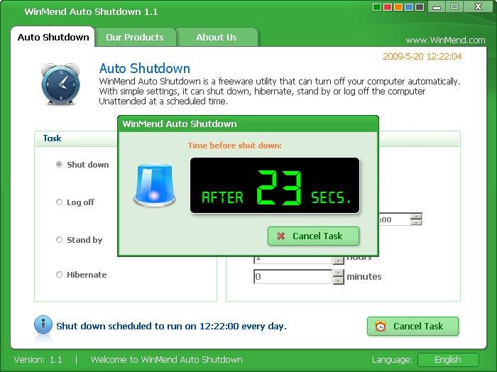 WinMend Auto Shutdown 2.2.0 free download - Software reviews ...
