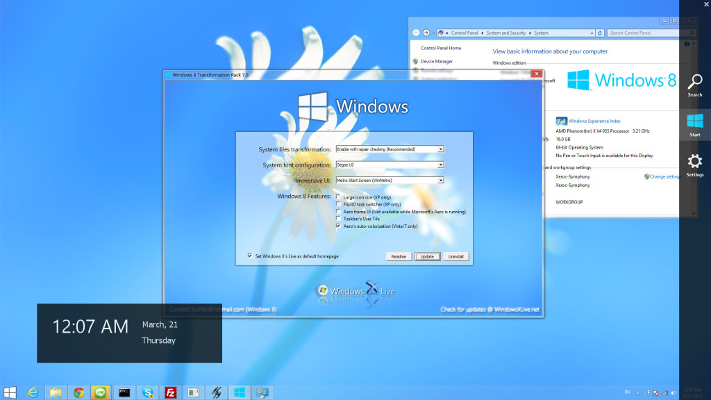 Windows vista transformation pack 8 0 10 for xp