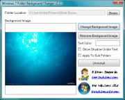 Windows 7 Folder Background Changer 1.1