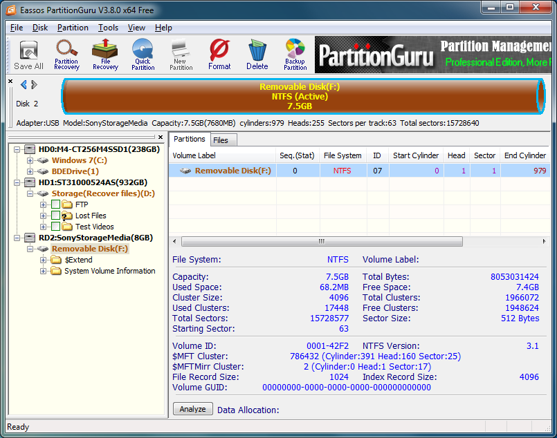 eassos partitionguru 4.9.3.409 professional edition + crack