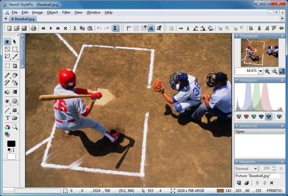 برنامج مجانى مميز لتحرير وتعديل وإنشاء الصور بسهولة Hornil StylePix 1.12.3.2