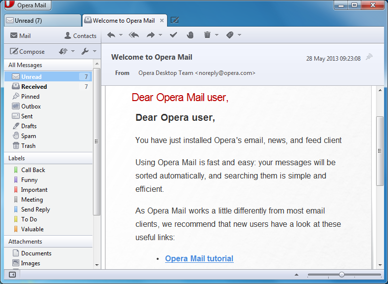 Opera Mail 1 0 1044 free download - Software reviews