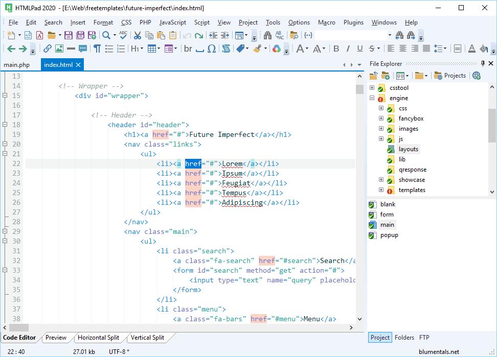 HTMLPad 2018 v15 5 0 207 free download - Downloads