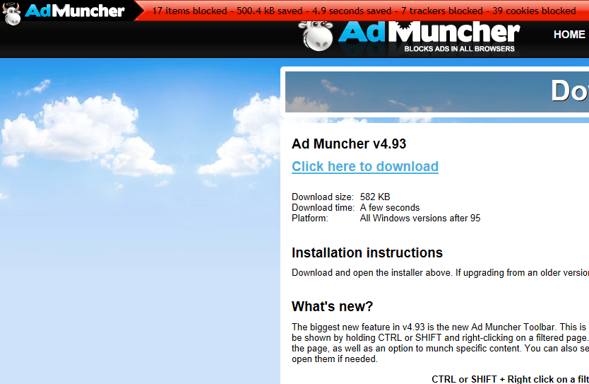 Ad Muncher 4 94 free download - Software reviews, downloads
