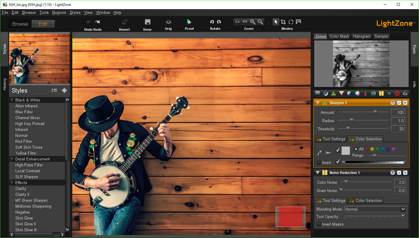 A powerful photo editor raw processor