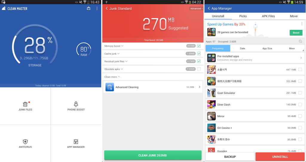 Clean master boost applock free download downloads freeware shareware software trials - Clean master optimizer apk ...