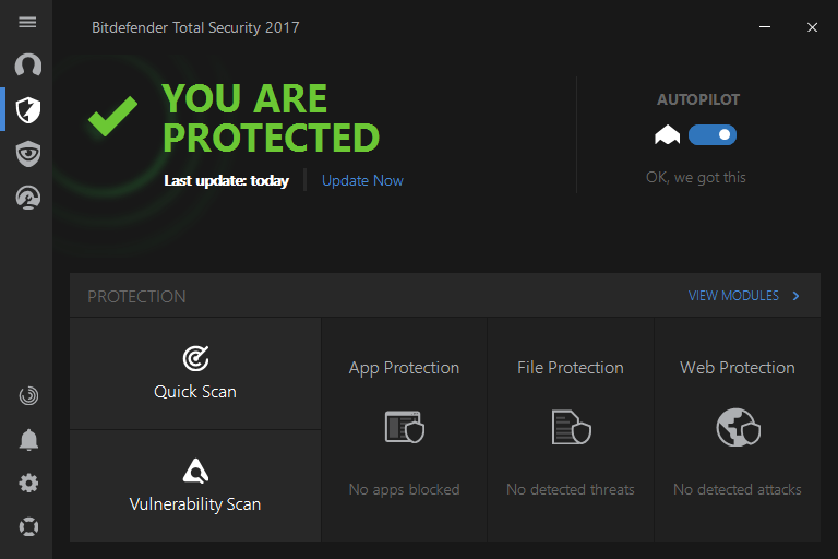 Bitdefender internet security 2017 build 13.0.15.297 x32 only