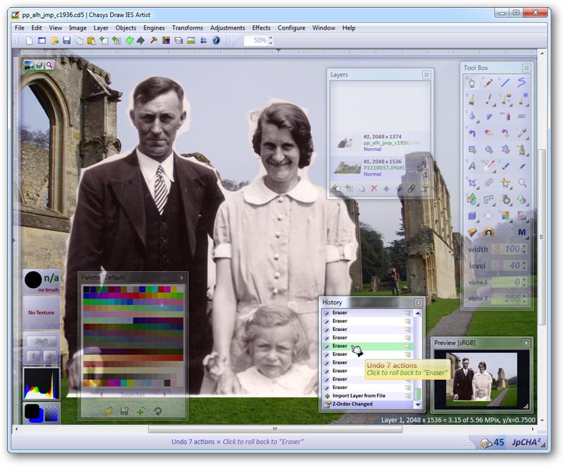 برنامج مجانى لانشاء وتحرير وتعديل الصور بمجموعة كبيرة ومتنوعة من الادوات Chasys Draw IES 4.04.01