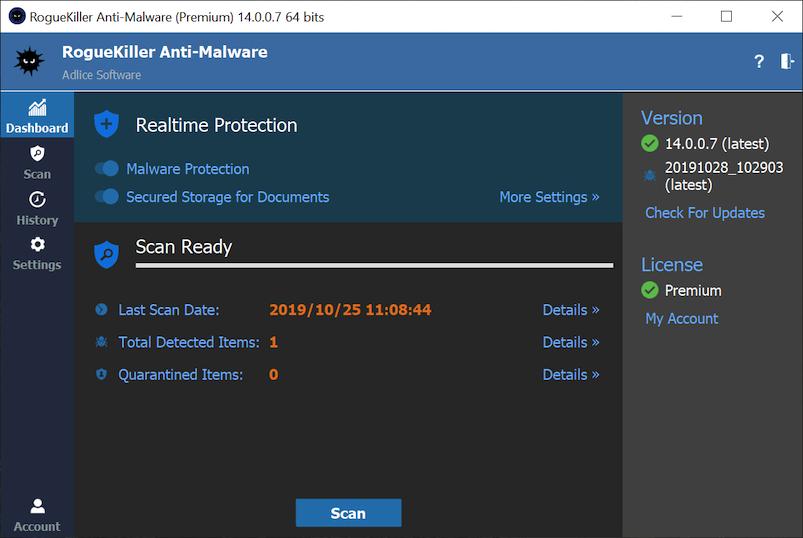 برنامج فحص الريجسترى وتنظيف جهازك RogueKiller 12.5.2 coobra.net