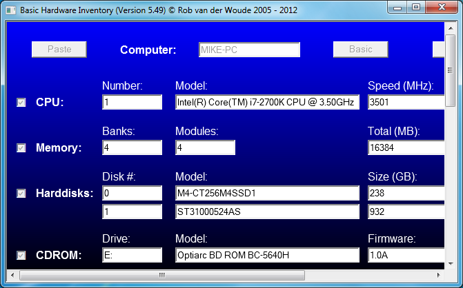 Basic Hardware Inventory 6.01 free download - Software reviews ...