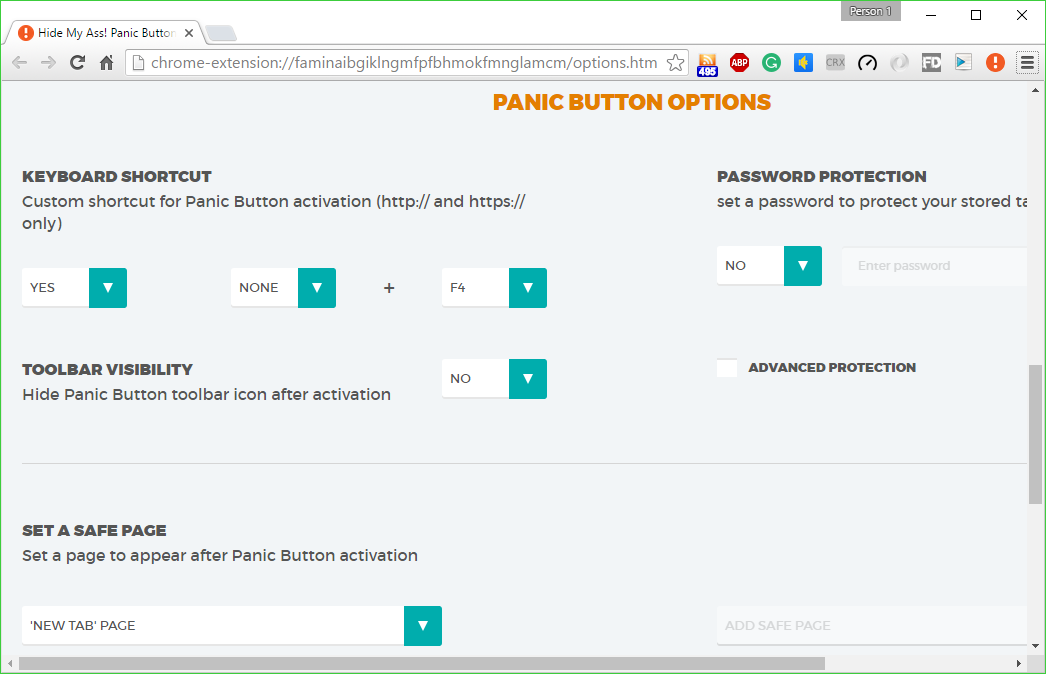 Panic Button 1 0 2 for Chrome free download - Software