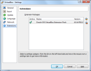 VirtualBox 5.0 Oracle VM VirtualBox Extension Pack