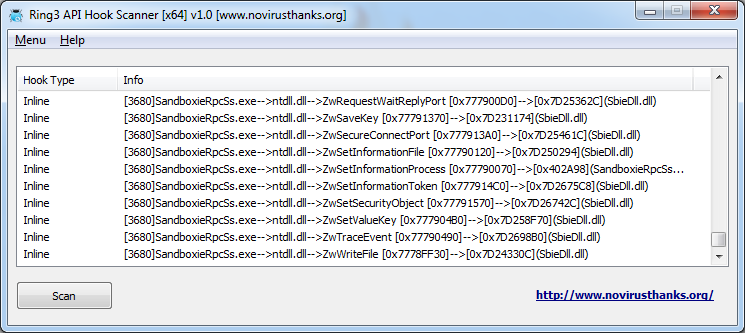 Ring3 API Hook Scanner 1 6 free download - Software reviews