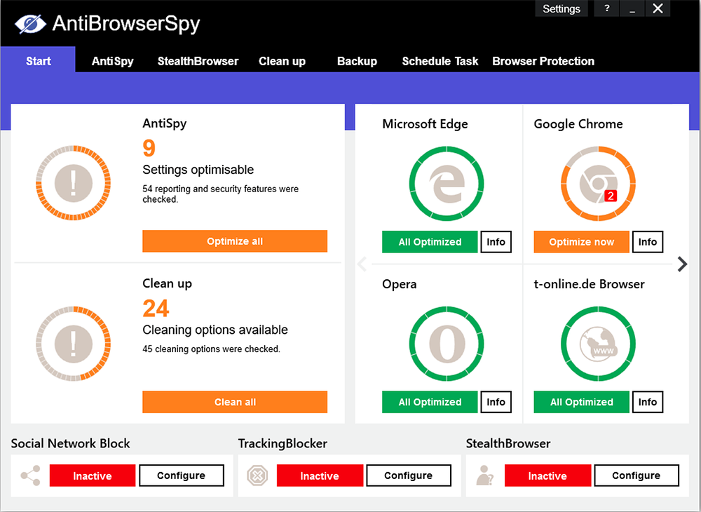 AntiBrowserSpy 2020.305 free download - Software reviews ...