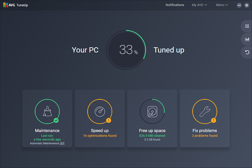 avg system tuneup