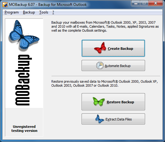 Download outlook 2007 as a free trial.