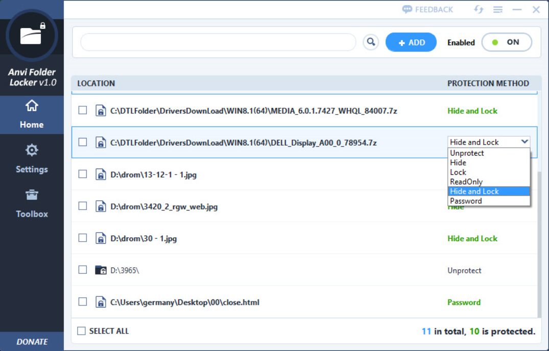 Anvi Folder Locker Free 1.2 free download - Software ...
