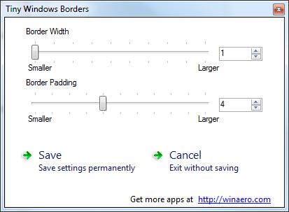 Tiny Windows Borders For Windows 8 V2 5 Free Download