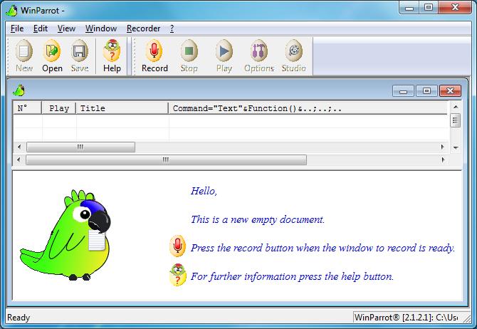 تحميل برنامج WinParrot 2.1.2.1 لتسجيل وحدات الماكرو وتسجيل الاحدات على جهازك