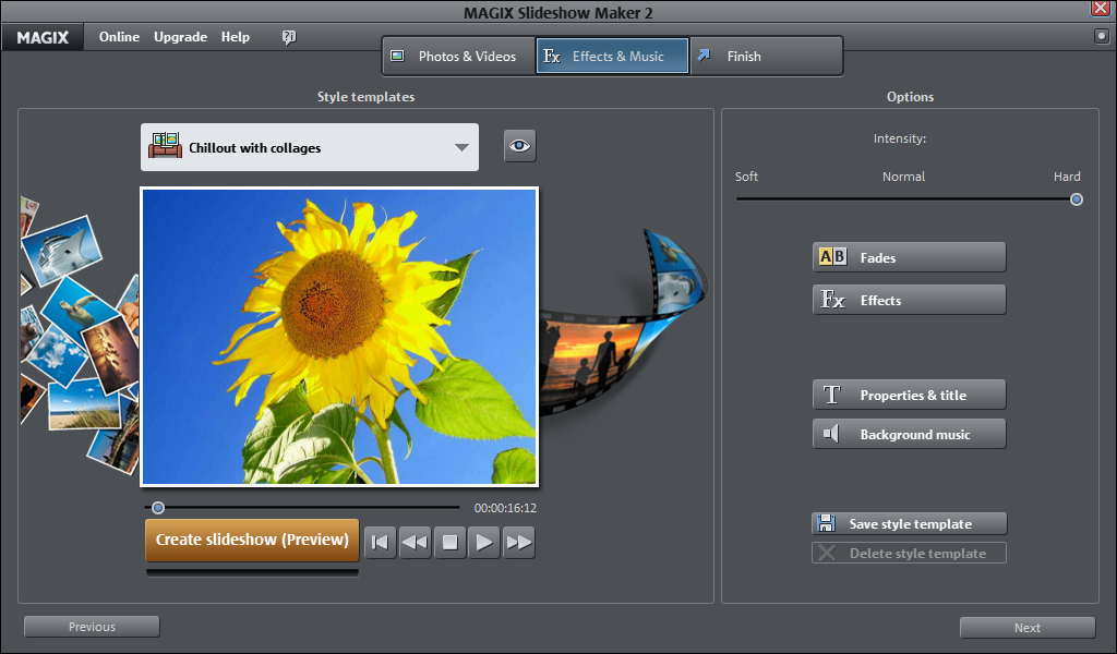 quickly create quality slideshows and share them with the world