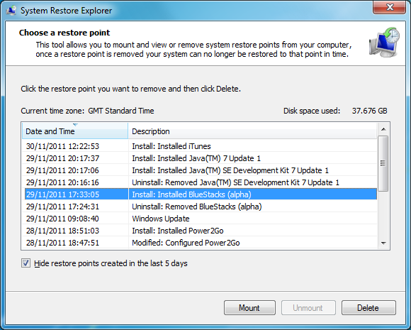 System Restore Explorer 0 0 5 beta free download - Software reviews