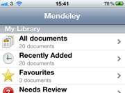 Mendeley for iPhone