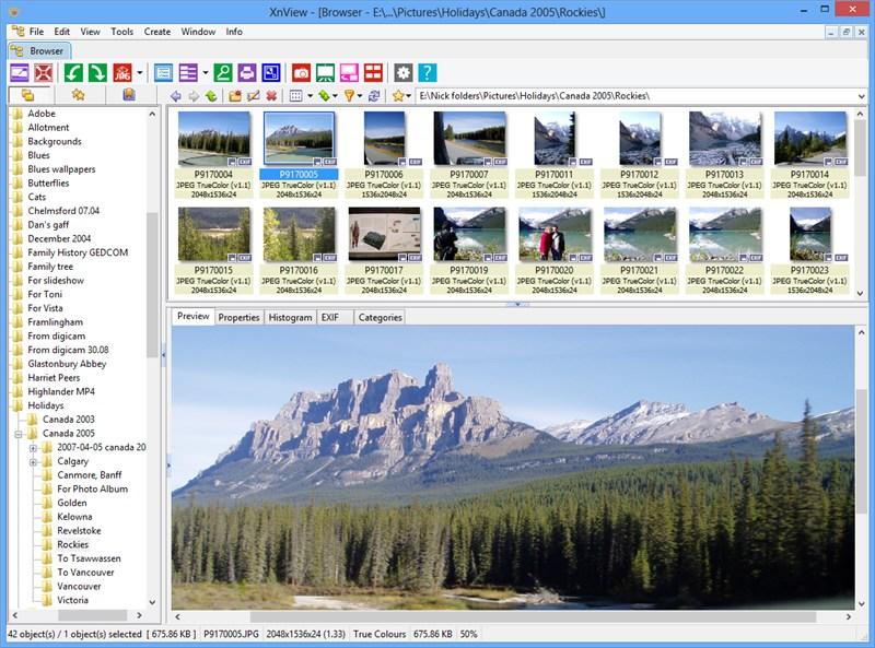 برنامج مجانى مميز لعرض وتحرير وتحويل جميع اشكال الصور المعروفة XnView 2.03