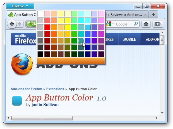 App Button Color 1 0 for Firefox 4 free download - Software reviews