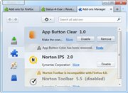 App Remove Button for Firefox 4