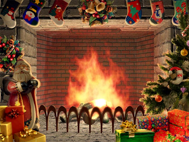 Christmas Fire Place Images.Christmas Living 3d Fireplace Screensaver Free Download