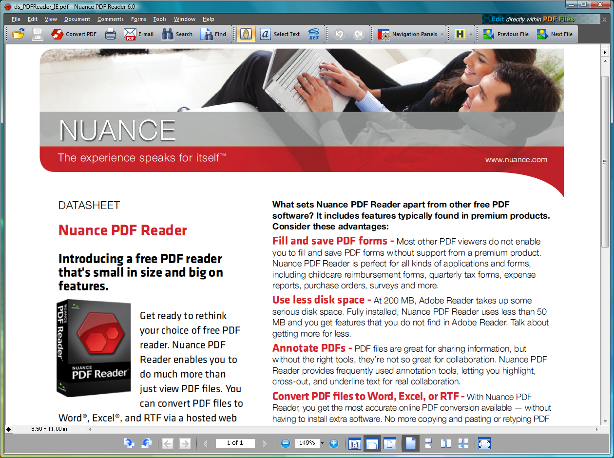 Nuance PDF Reader 8 10 302 free download - Software reviews