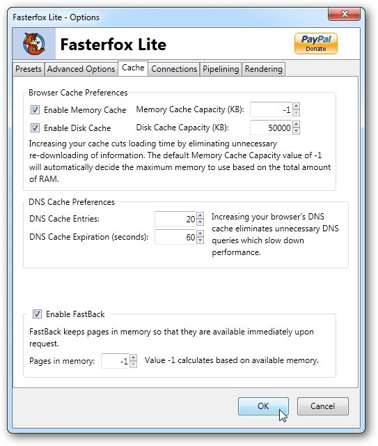Guide speeding firefox with fasterfox.