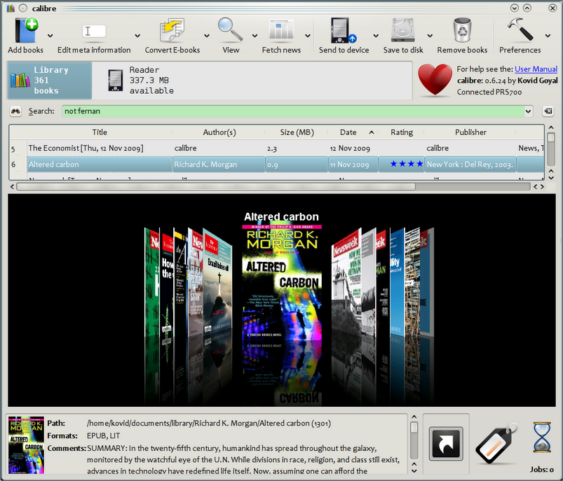 Catalog Your Books And Manage Your Library With Excel: Calibre 3.15 (64-bit) Free Download