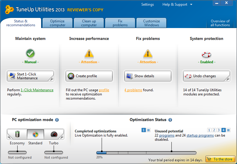 PC \u0026 Tech Authority Software Store - TuneUp Utilities 2013 Business
