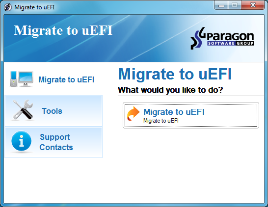 Paragon Migrate to UEFI free download - Software reviews, downloads
