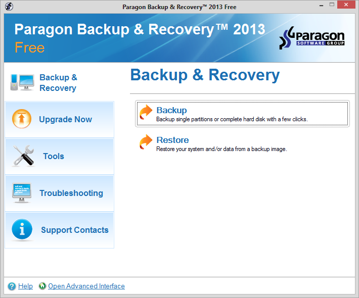 تحميل برنامج Paragon Backup & Recovery 2013 Free مميز جداً لحفظ بيانات الهارد ديسك فى امان واسترجاعها فى اى وقت مجانى