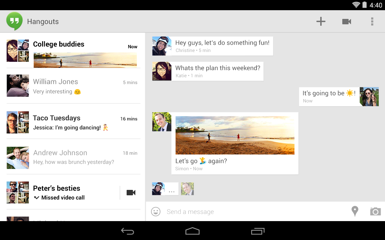 Google Hangouts 20 0 free download - Software reviews, downloads