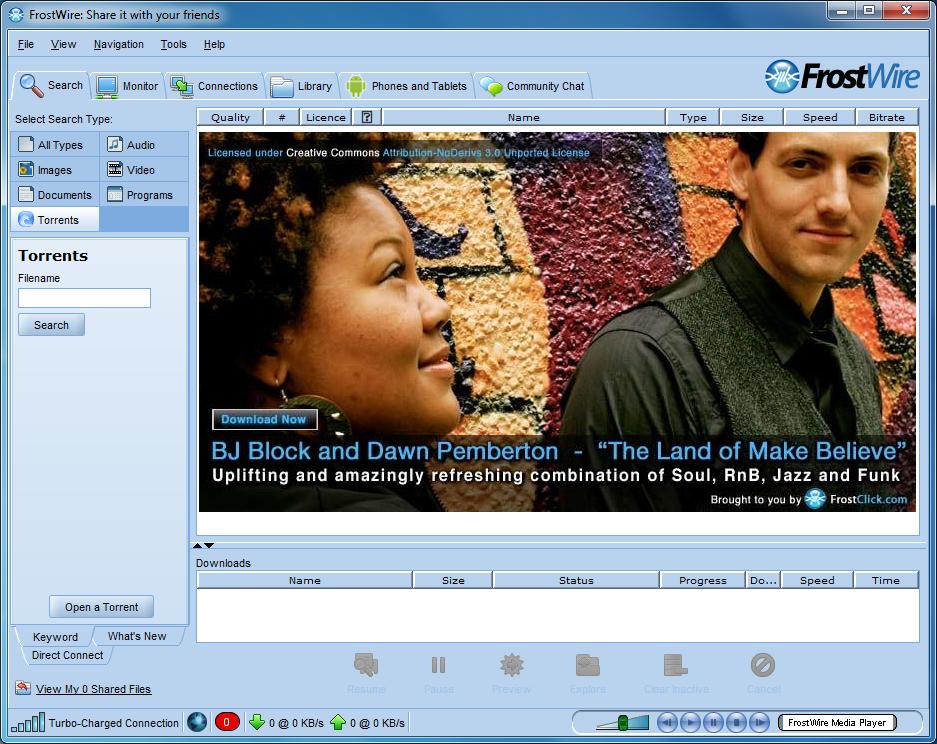 برنامج فروست وير لمشاركة ونقل الملفات