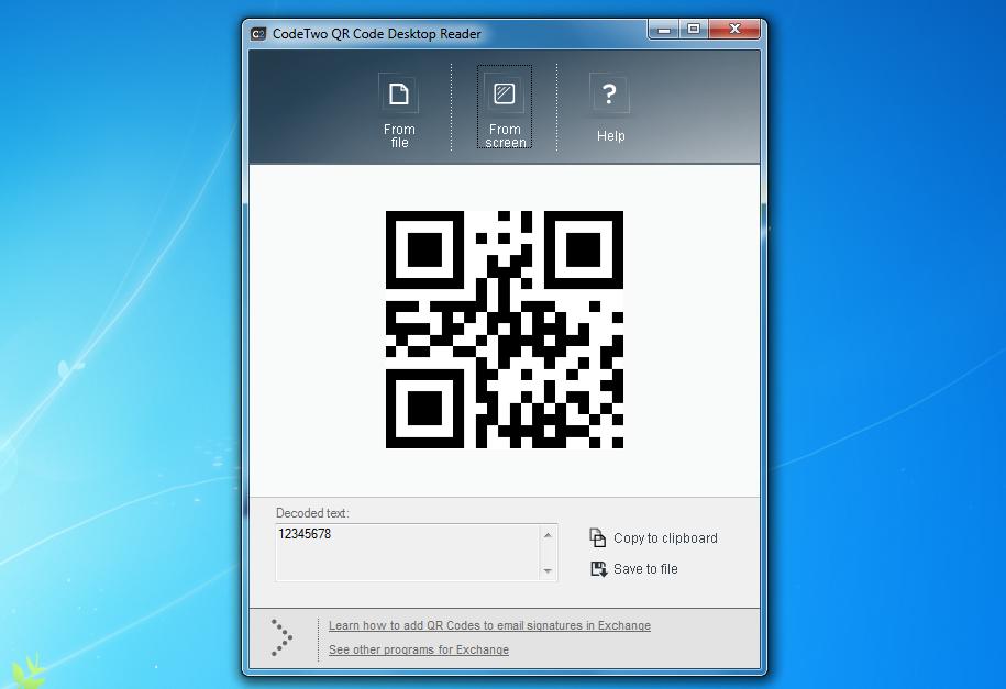 CodeTwo QR Code Desktop Reader 1 0 1 5 free download
