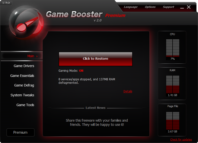 game booster premium free download