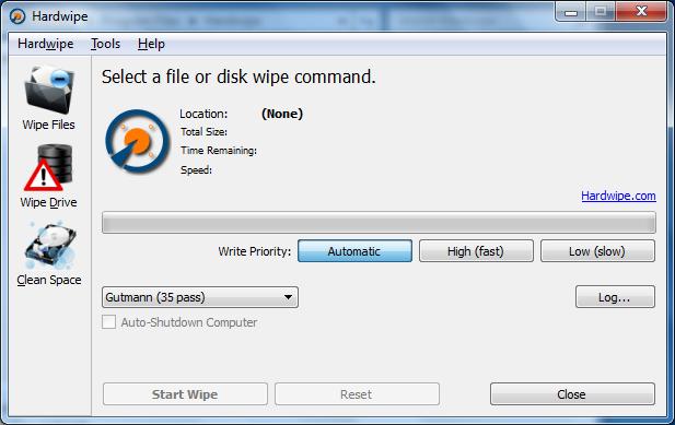 برنامج مجانى يضمن لك عدم استرجاع بياناتك بأى طريقة مدى الحياه Hardwipe 1.5.0