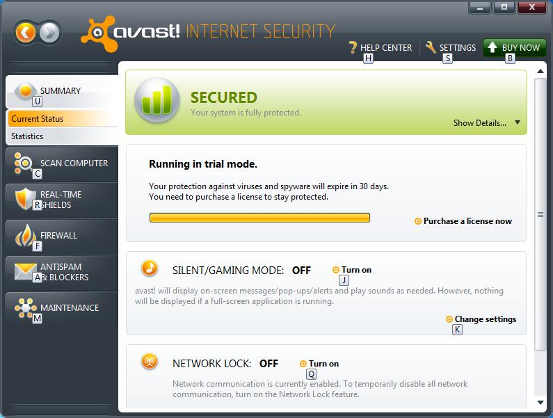 صدقني بالتجربة avast! Internet Security 20011 6.0.1203