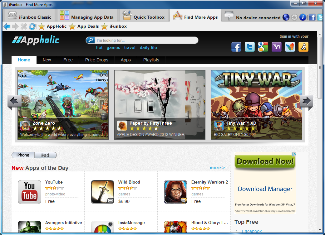 i-FunBox 2 7 free download - Downloads - freeware, shareware