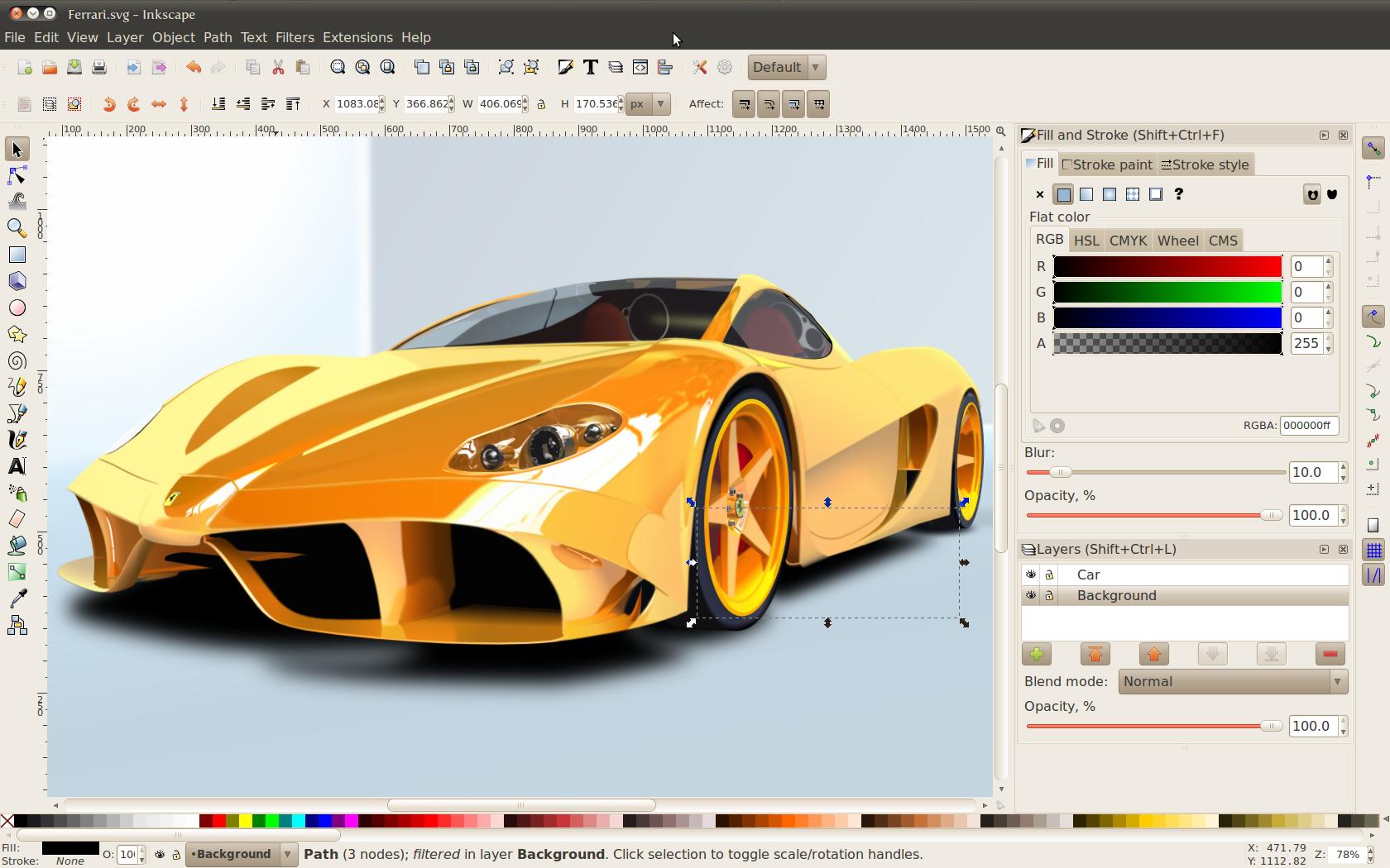 Pro Illustrator Vector drawing imaging Software suite Windows 10 8 7 INKSCAPE