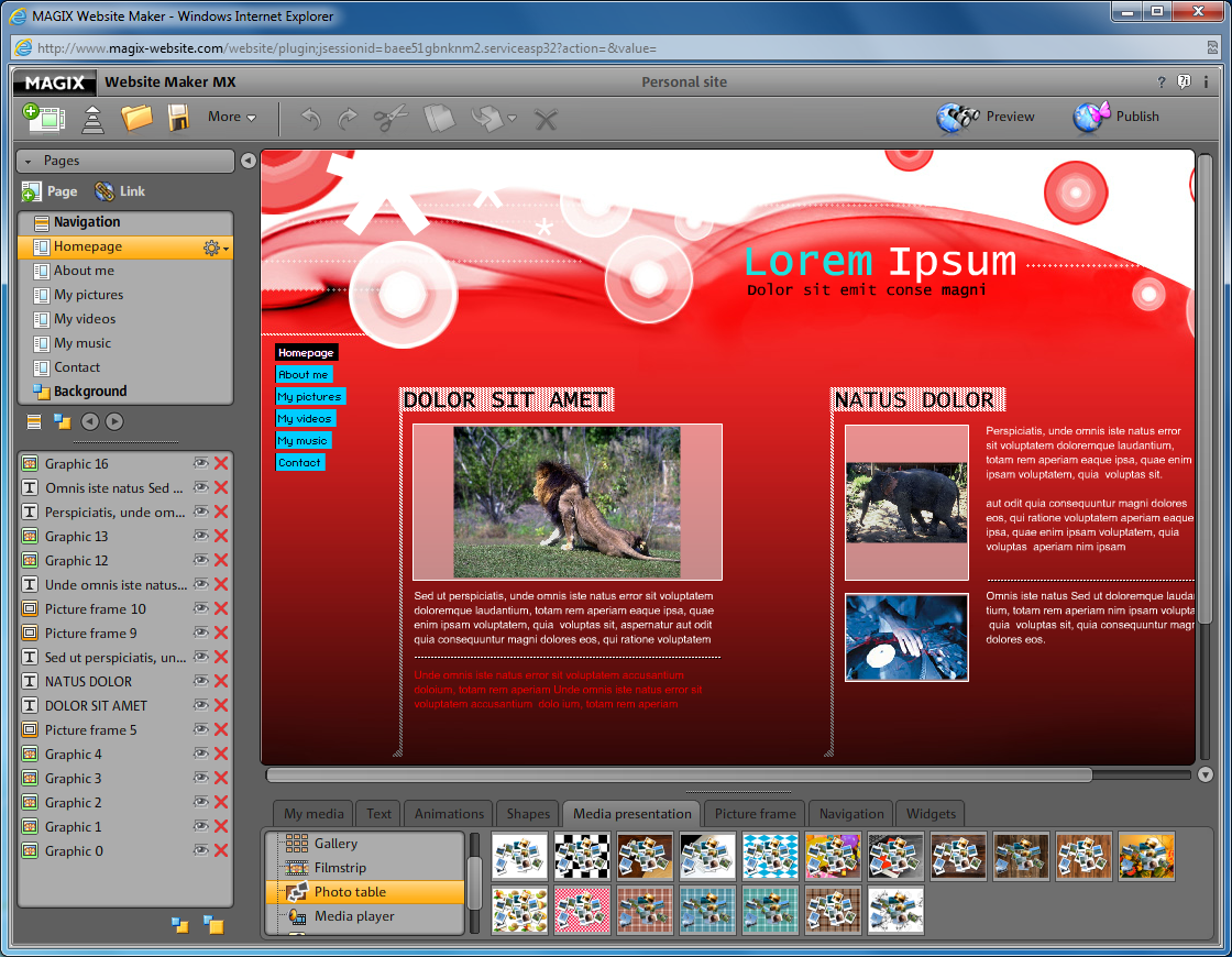 MAGIX Website Maker MX free download - Downloads - freeware ...