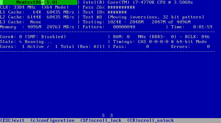 memtest86 windows 7 64 bits