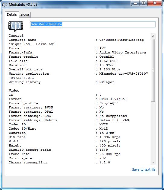 mediainfo 64 bits