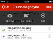 MEGA 1.0 on iOS