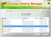 Chrome History Manager
